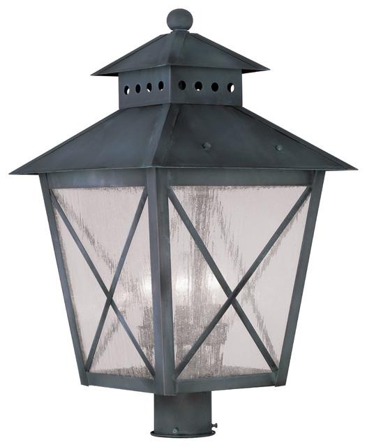 Livex lighting 2678 61 outdoor lighting post light for Contemporary outdoor post light fixtures