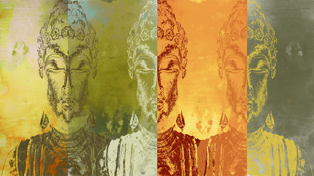 Buddhas 3 wall mural asian wallpaper by murals your way for Asian mural wallpaper
