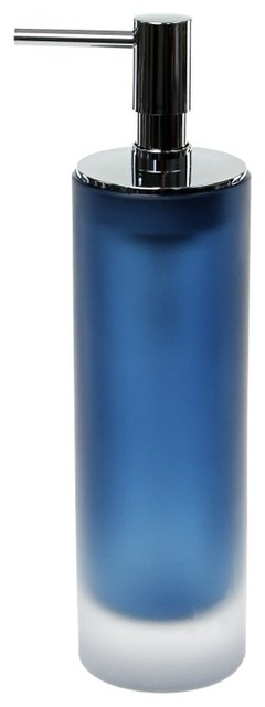 Blue Free Standing Soap Dispenser In Glass Contemporary Soap Lotion Dispensers By