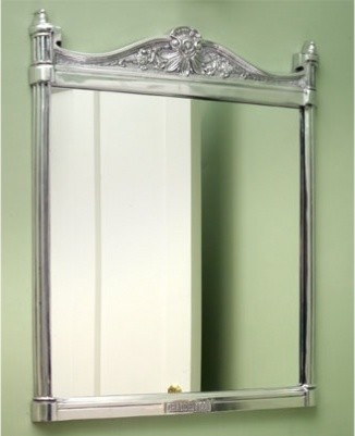 Awesome Careful Placement Of A Round Mirror Helps To Break Up A Block Of Wall Space A
