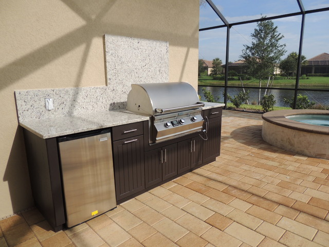 Weatherproof Polymer Cabinetry In Southwest Floridaoutdoor Kitchen Naples Fl Modern Other