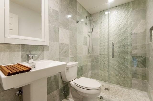 Modern hall bathroom falls church va modern bathroom dc metro by select kitchen bath for Bathroom remodeler falls church va