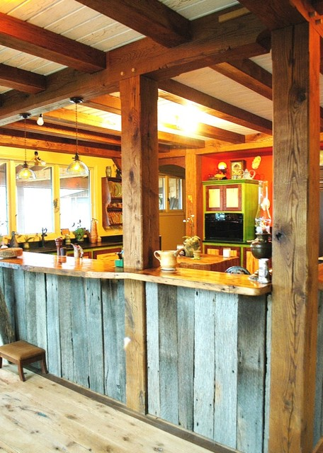 Timber Frame Beamed Ceilings Eclectic Kitchen