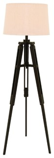 wood tripod floor lamp beach style floor lamps by navigation bay. Black Bedroom Furniture Sets. Home Design Ideas