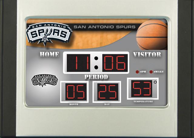 San antonio spurs logo digital scoreboard alarm clock for San antonio home alarm