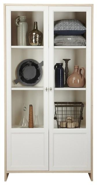 Vaisselier vitrine en bois ans couleur blanc moderne vaisselier par dra - Vaisselier moderne design ...