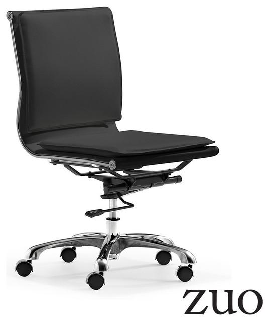 Zuo modern lider plus armless office chair modern office chairs los angeles by - Armless office chairs uk ...