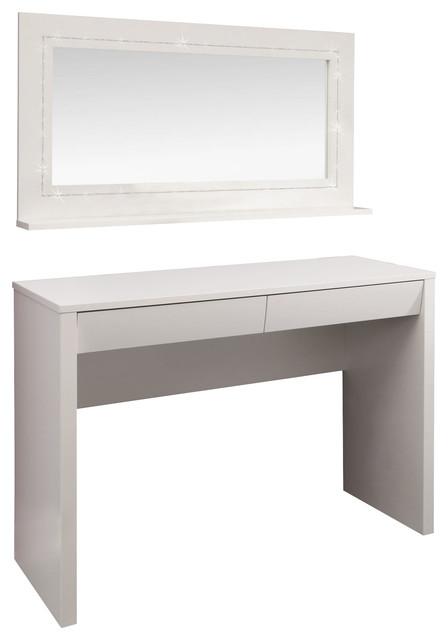 Starlight Dressing Table Desk And Mirror Modern Bedroom Makeup Van