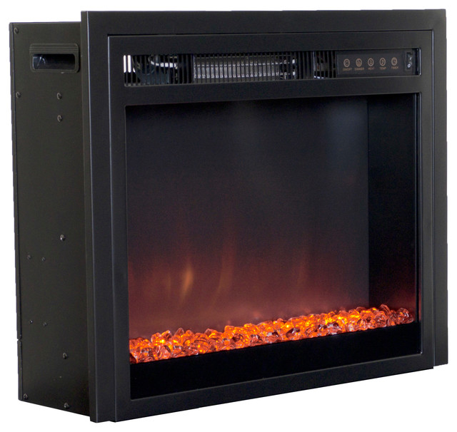Corliving Electric Fireplace Insert Contemporary Indoor Fireplaces By Corliving