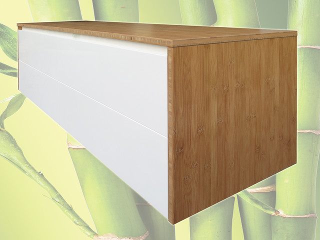1500mm Wall Hung Bamboo Upgrade Modern Bathroom Vanities Brisbane By Bamboo Projects