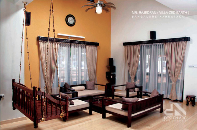 Villa zed earth traditional living room other metro for Indian ethnic living room designs