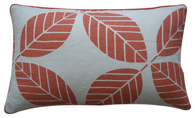 Small Coral Throw Pillows : Small Tiki Coral Pillow - Contemporary - Scatter Cushions - by Jiti Designs