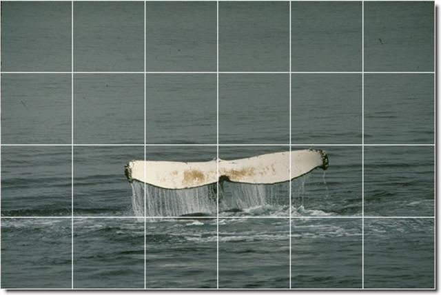 Dolphins whales photo backsplash tile mural 26 for Dolphin tile mural