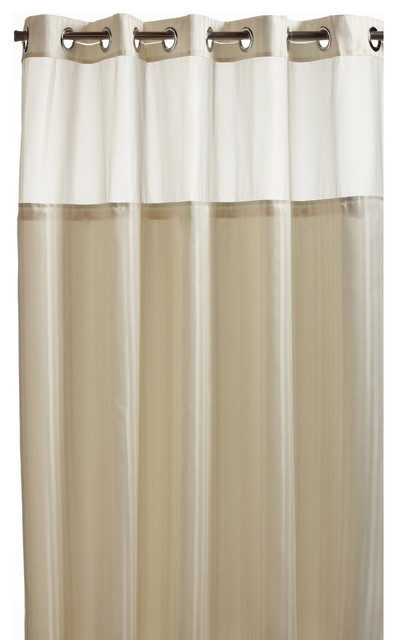 Hookless Beige Premium Shower Curtain Contemporary Shower Curtains By