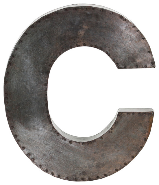 Metal Alphabet Wall Decor Letter C Contemporary Wall