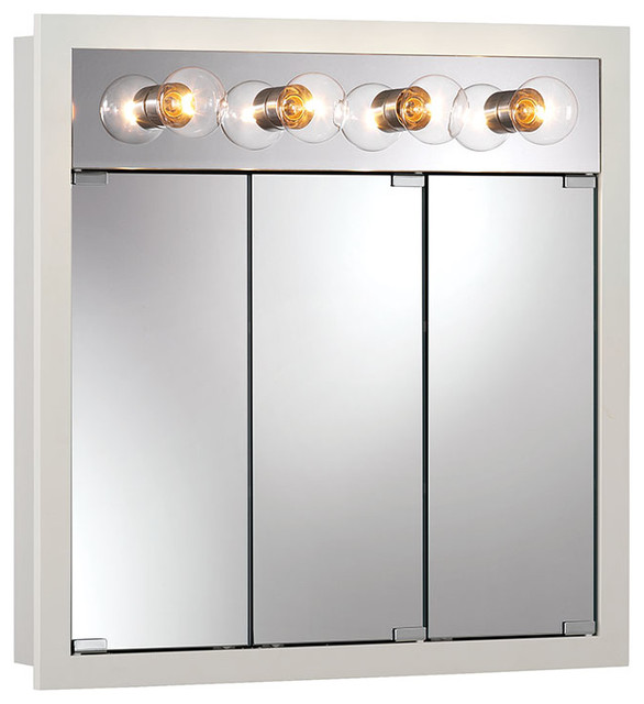 ... Lighted White Medicine Cabinet - Contemporary - Medicine Cabinets - by