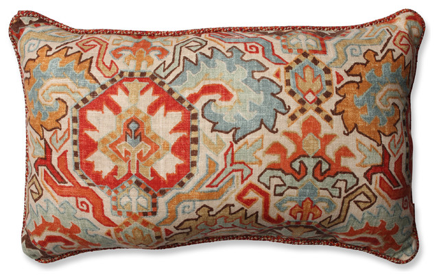 Traditional Sofa Pillows : Madrid Persian and Tweak Sedona Rectangular Throw Pillow - Traditional - Decorative Pillows - by ...