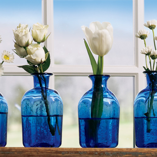 Cobalt Blue Vial Traditional Vases By Monticello