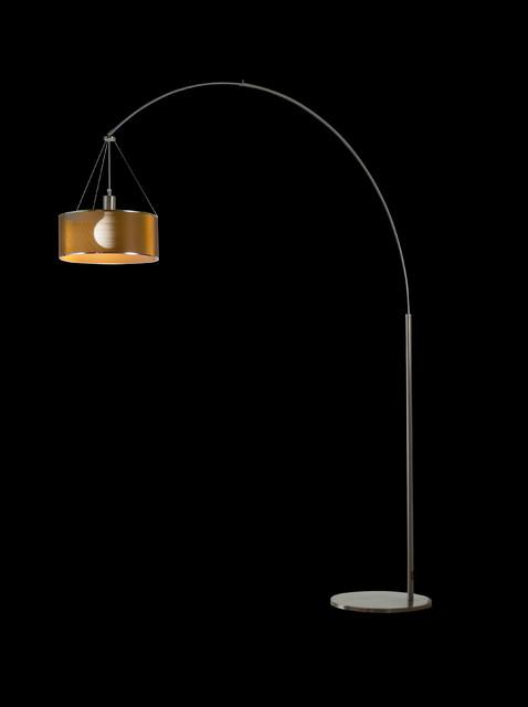 steel arc floor lamp contemporary floor lamps other. Black Bedroom Furniture Sets. Home Design Ideas