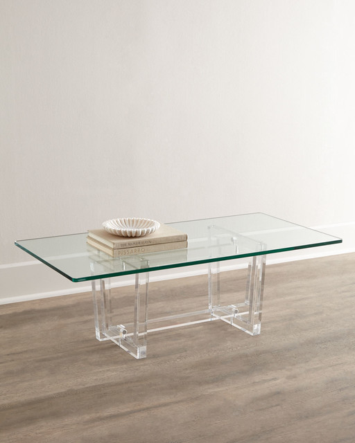 Aldon Acrylic Coffee Table  Coffee Tables  by Horchow -> Table Basse Plexiglass