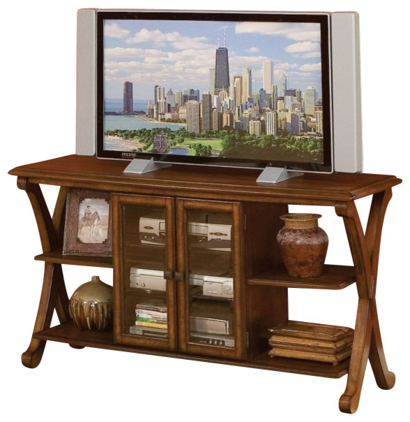 Standard Furniture Barcelona Console TV Table, Cherry - Traditional - Entertainment Centers And ...