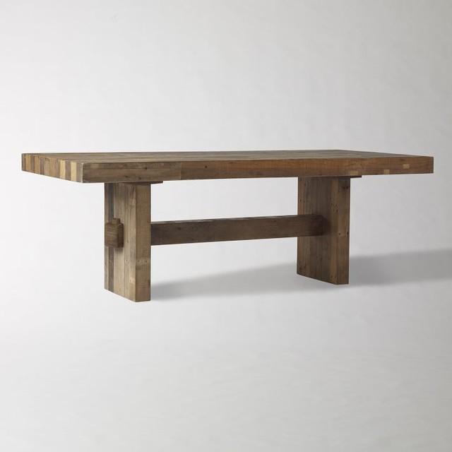 emmerson reclaimed wood dining table craftsman dining tables by west elm. Black Bedroom Furniture Sets. Home Design Ideas