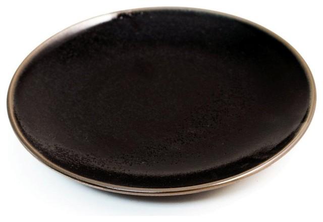 Glossy Black Dinner Plates