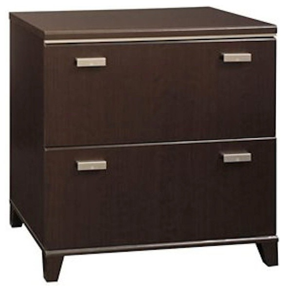 Bush Tuxedo 2 Drawer Lateral Wood File Storage Cabinet in Dark Mocha Cherry - Transitional ...