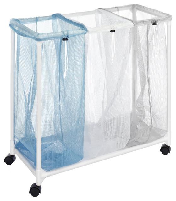 Whitmor 3 Section Plastic Mesh Laundry Sorter