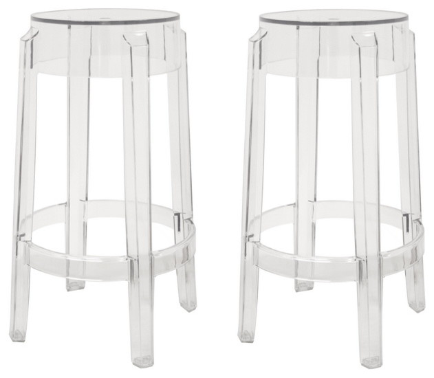 Bettino Clear Acrylic Counter Stool Set Of 2