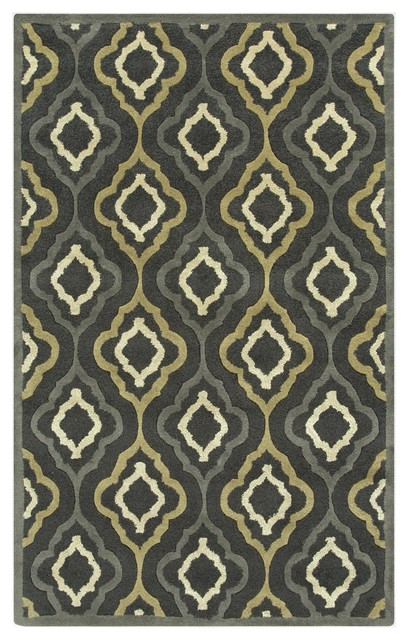 Surya Modern Classics Hand Tufted Green Wool Rug, 9' x 13' - Contemporary - Rugs - by Casa.com