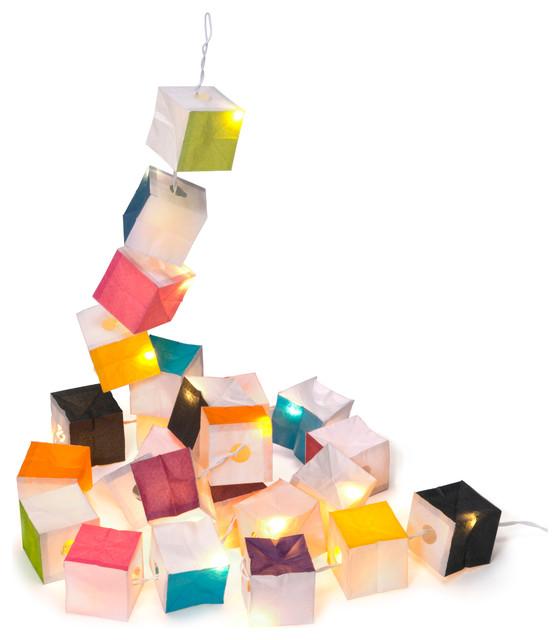 Guirlande cubiste contemporain guirlande lumineuse et - Eclairage guirlande exterieur ...