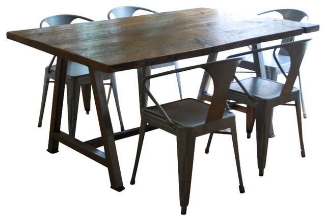 Rustic Modern Architect Table Thick 72x36 Contemporary