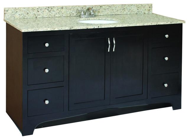 Design house ventura espresso 4 drawer vanity cabinet for Bathroom cabinets ventura
