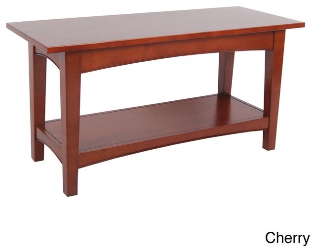 Fair Haven Wood 1 Shelf Bench Contemporary Indoor Benches By