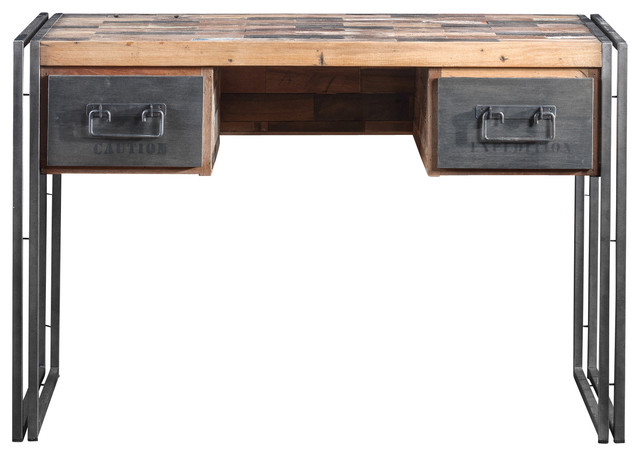 Computer Desk Made of Recycled Boat Wood and Industrial Metal - Contemporary - Desks And Hutches ...