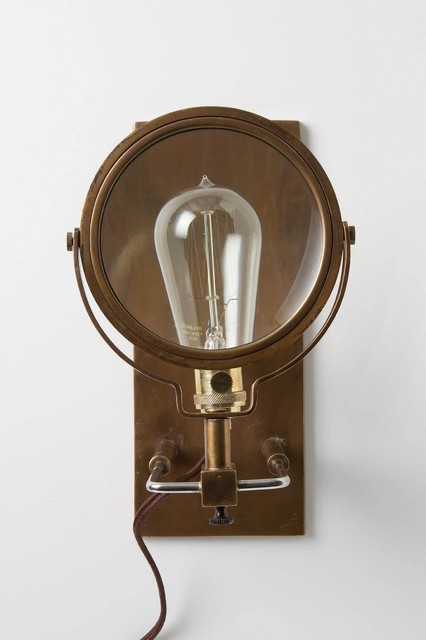 Wall Sconce With Magnifying Glass : Magnifying Glass Sconce - Eclectic - Wall Sconces - by Anthropologie