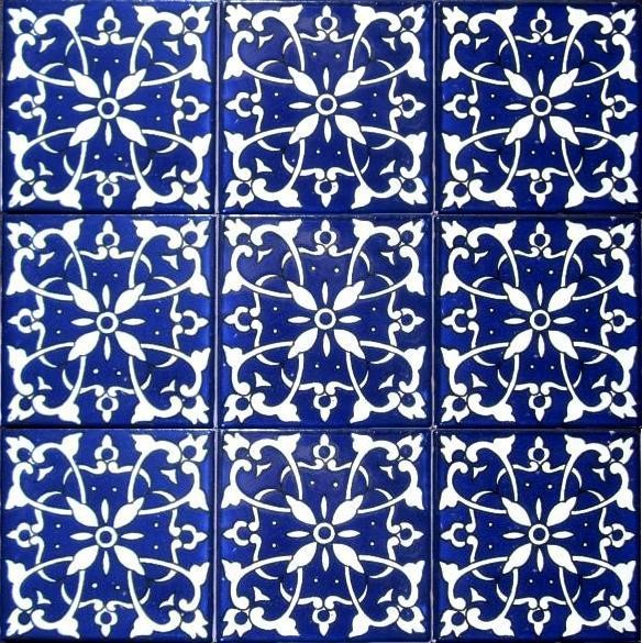 Mediterranean Hand Painted Floor Tile X