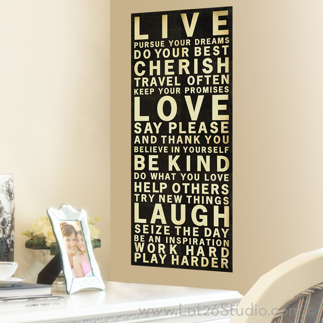 Live Love Laugh Decal Banner Wall Decals San Francisco