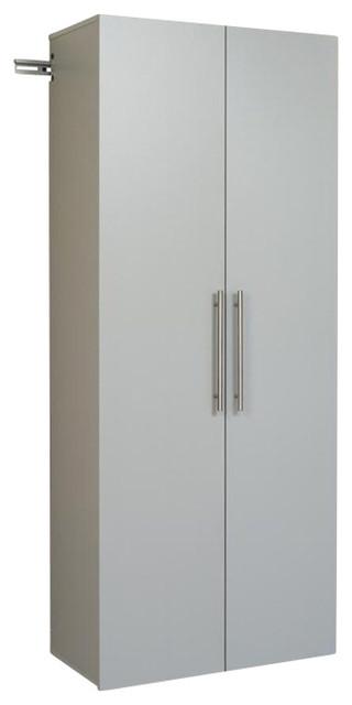 "Prepac HangUps 30"" Large Storage Cabinet in Light Grey Laminate - Transitional - Garage And Tool ..."