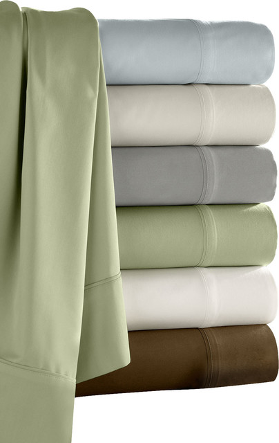 Camelot Bamboo Sham Set, Standard, Fern - Traditional - Pillowcases And Shams - by Luxor Linens
