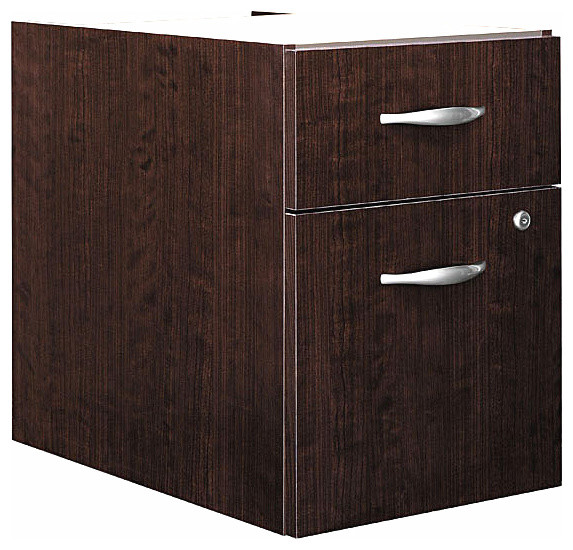 Assembled 3/4 Pedestal File in Mocha Cherry - Series C - Contemporary - Filing Cabinets - by ...