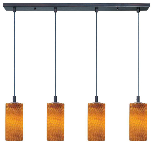 Xenon Ceiling Lights : Carte xenon multi light pendant with a contemporary amber