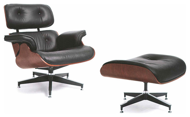 modern black leather chaise lounge and ottoman empire modern indoor