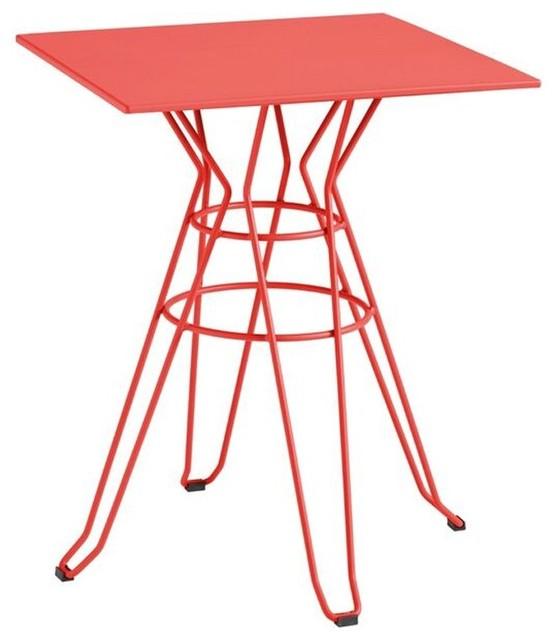 Table de jardin design m tal carr e 60x60cm alameda - Table de jardin rouge ...