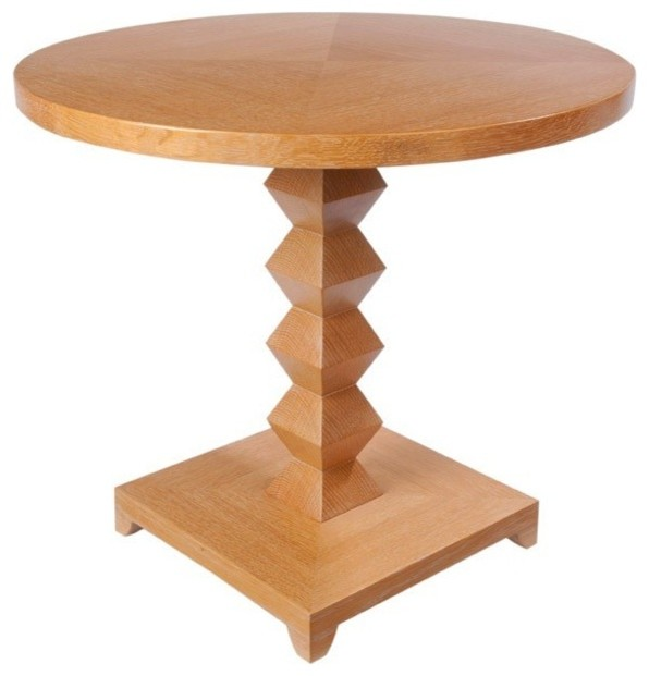 Eclectic Coffee Tables: Zig Zag Round End Table