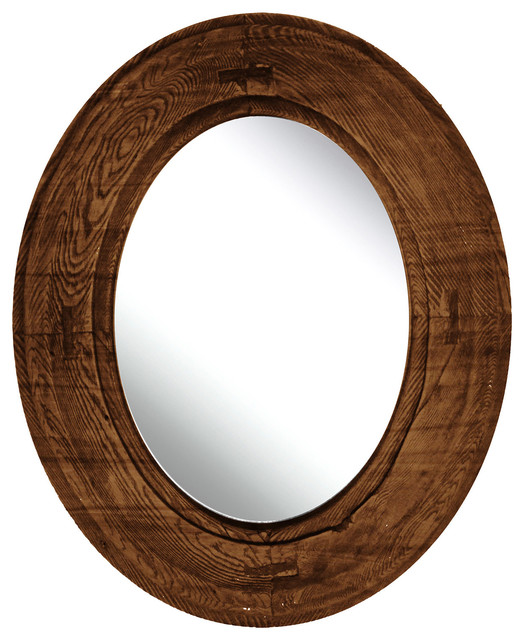 Oval Mirror I Rustic Wall Mirrors