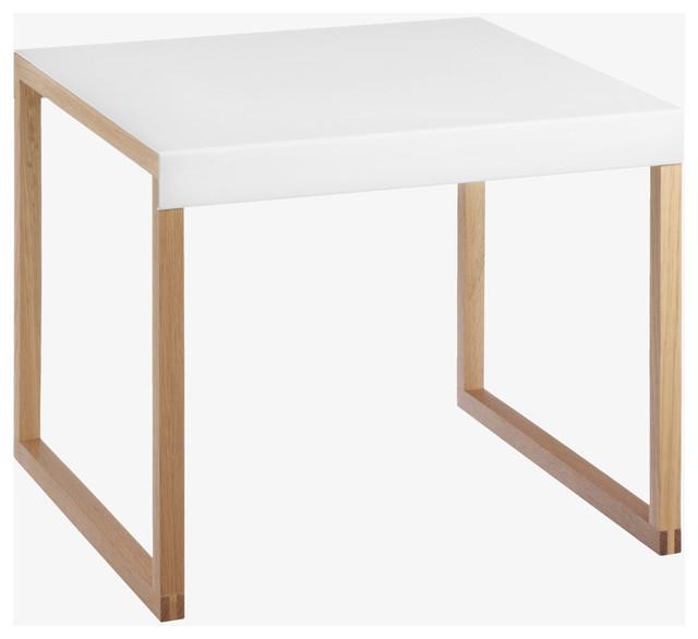 Kilo whites metal white side table contemporary side tables end t - Table basse kilo habitat ...