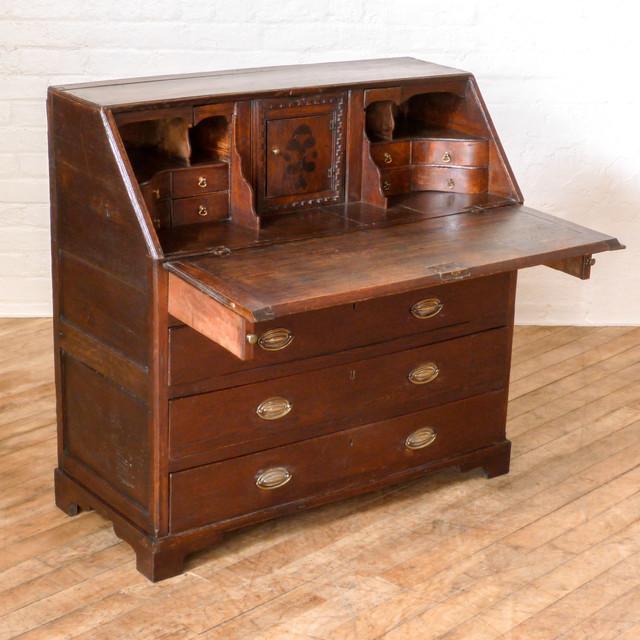 georgian oak bureau. Black Bedroom Furniture Sets. Home Design Ideas