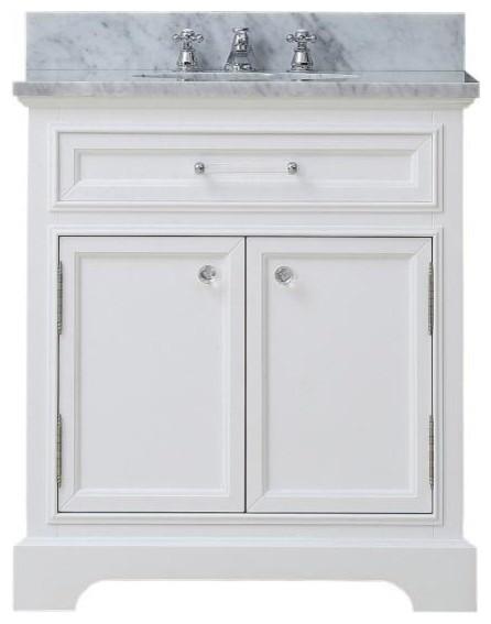 Derby White Bathroom Vanity 24 Wide Vanity Only Traditional Bathr